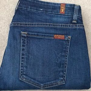 7 for all mankind jeans, super high waist skinny